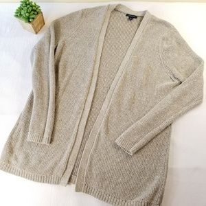 Land's End XL Open Cardigan Sweater FF71